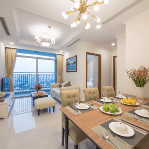 Cho thuê căn hộ Vinhomes Serviced Residences 2 phòng ngủ nội thất cổ điển sang trọng