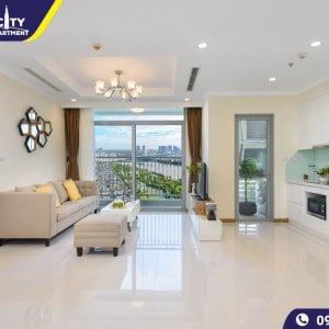 Cho thuê căn hộ Vinhomes Serviced Residences 3 phòng ngủ nội thất đẹp