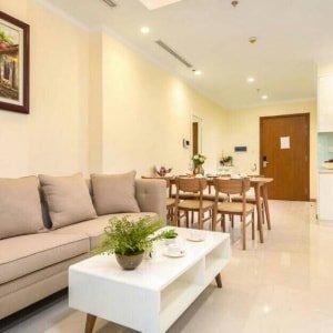 Cho thuê căn hộ Vinhomes Serviced Residences 2 phòng ngủ nội thất hiện đại