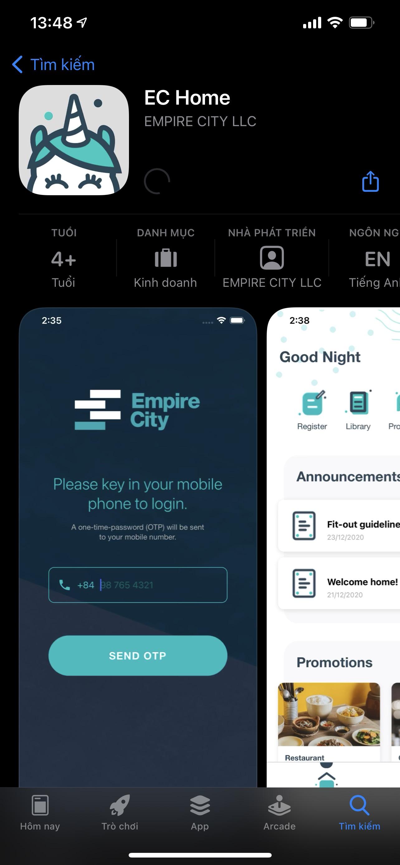 Qui trình đăng ký thẻ cư dân dự án Empire City